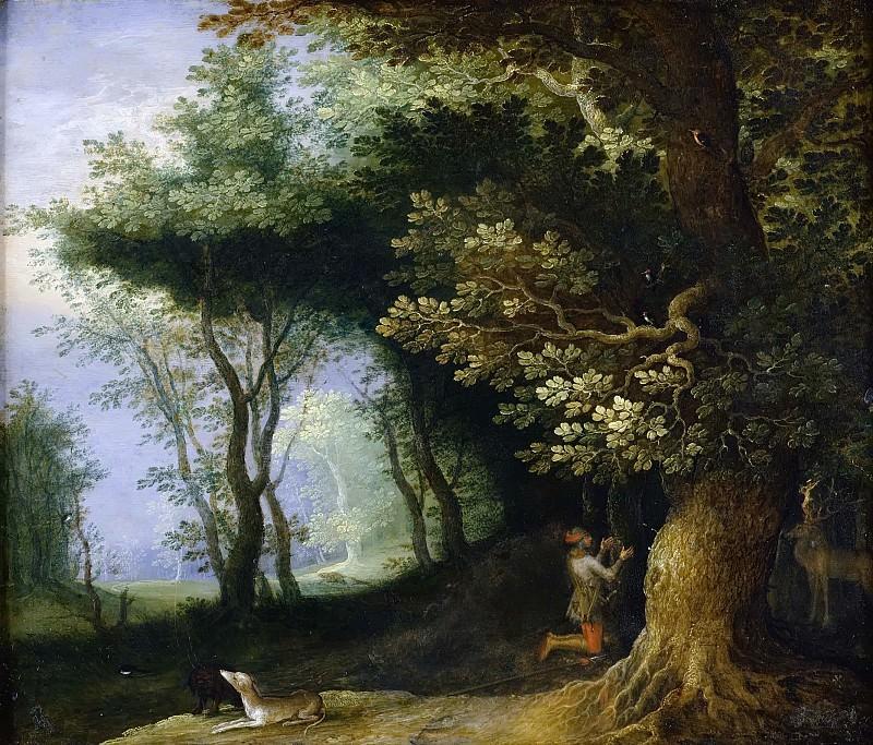 The Vision Of Saint Hubert. Jan Brueghel The Elder