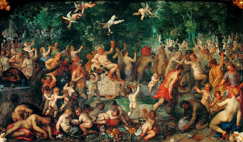 Bacchanalia. Jan Brueghel The Elder