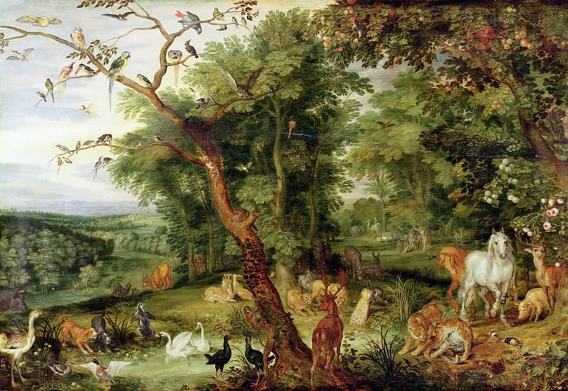 The Garden of Eden with fall of man. Jan Brueghel The Elder