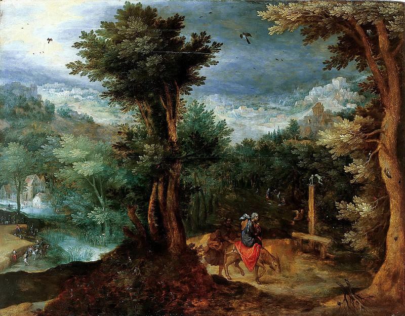 Flight into Egypt (attr.). Jan Brueghel The Elder