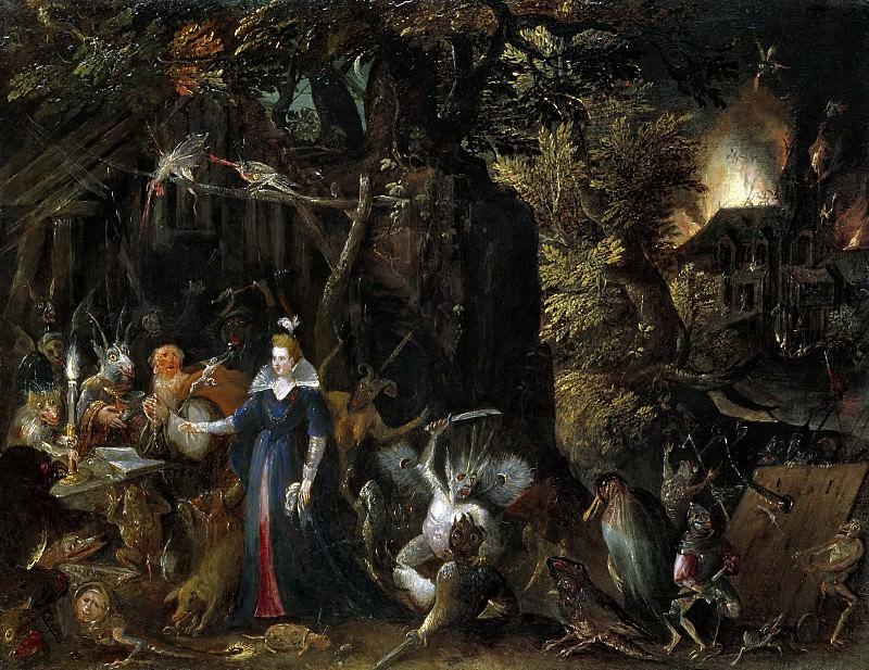 Искушение святого Антония (фигуры Иеронима I Франкена). Ян Брейгель Старший
