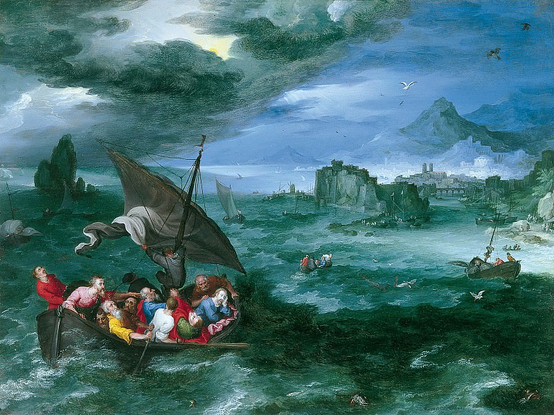 Christ in the Storm on the Sea of Galilee. Jan Brueghel The Elder