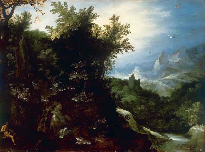 Landscape with St. Jerome. Jan Brueghel The Elder