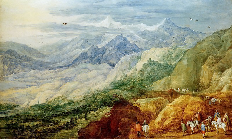Mountain landscape. Jan Brueghel The Elder