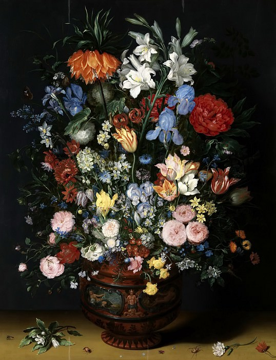 Flowers In A Vase. Jan Brueghel The Elder