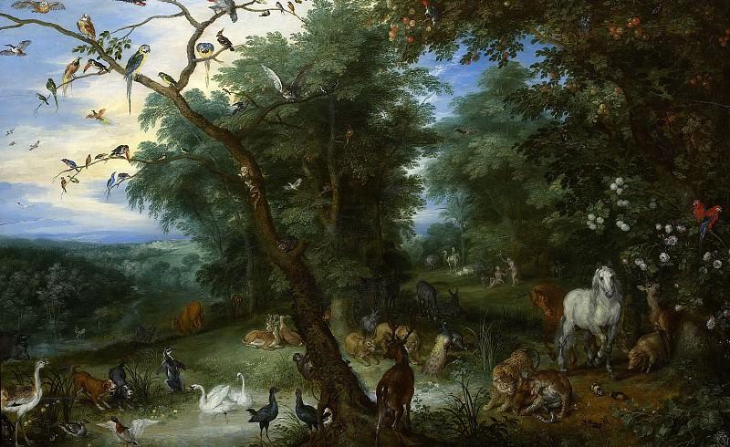 The Garden of Eden with the fall of man. Jan Brueghel The Elder