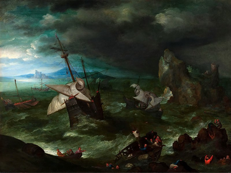 Storm. Jan Brueghel The Elder