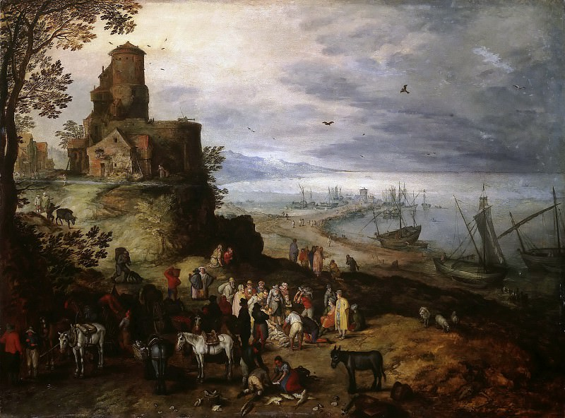 Fish Market (Calling the Apostoles Peter and Andrew). Jan Brueghel The Elder