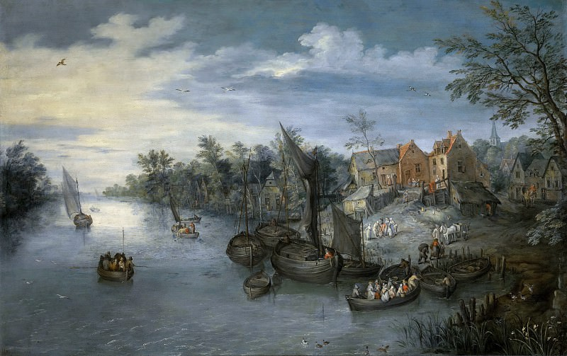 River landscape. Jan Brueghel The Elder