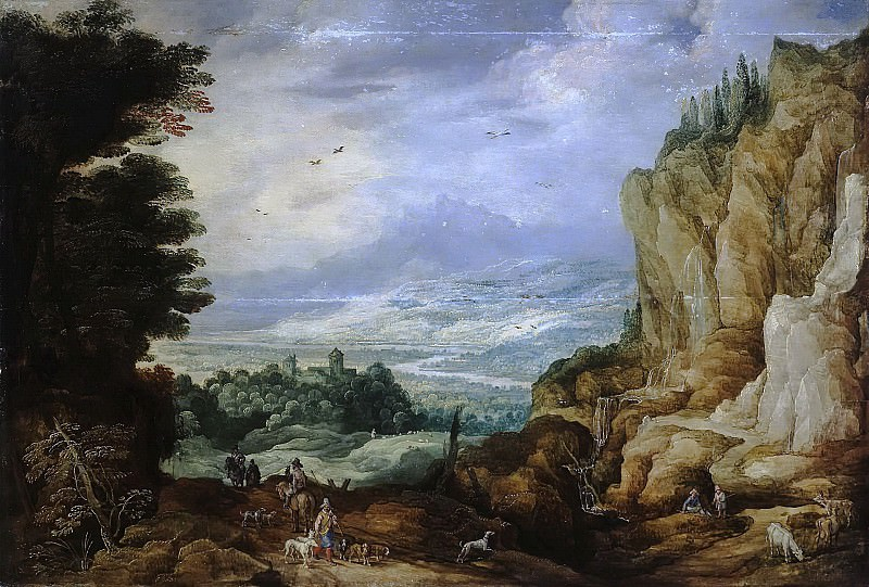 Rock Landscape with a Waterfall. Jan Brueghel The Elder