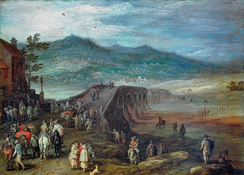 Bridge to Talavera. Jan Brueghel The Elder
