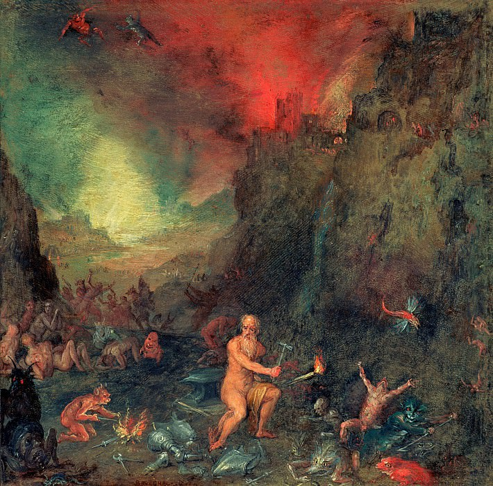 Forge of Vulkan. Jan Brueghel The Elder