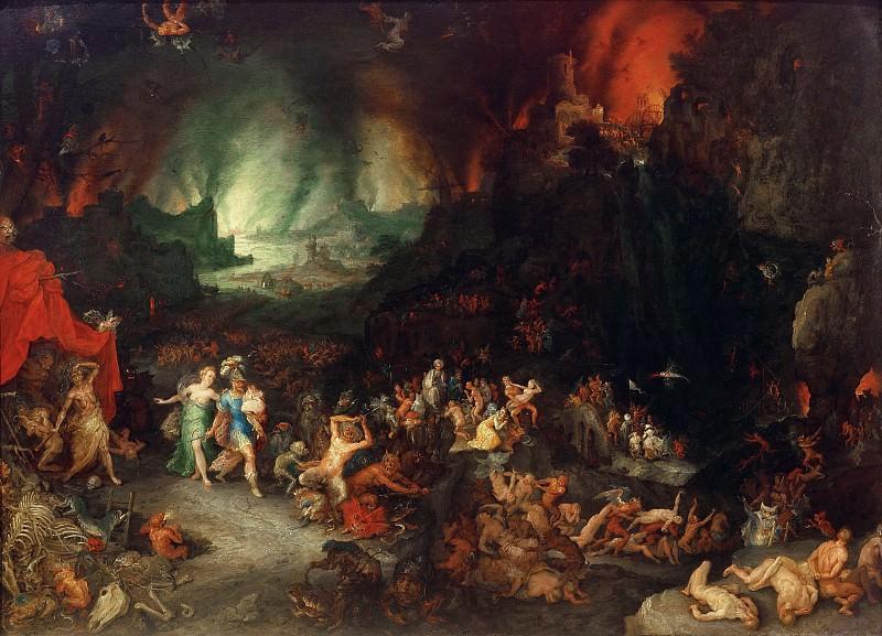 Aeneas and the Cumaean Sibyl in the Underworld. Jan Brueghel The Elder