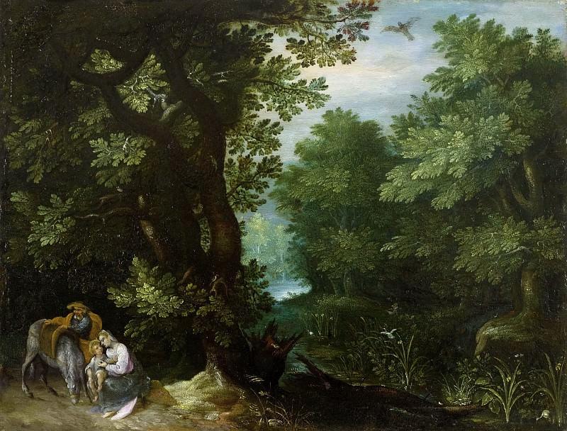 Rest on the Flight into Egypt. Jan Brueghel The Elder