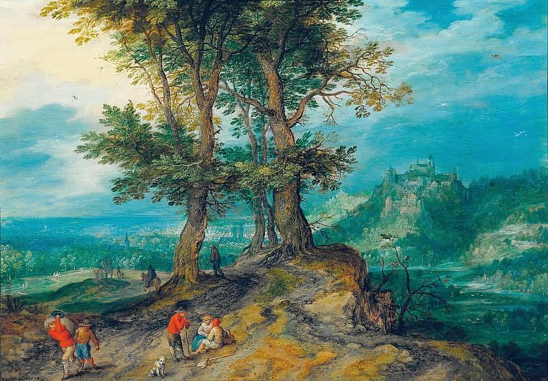 Road to the Market. Jan Brueghel The Elder