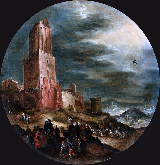 Road to Golgotha. Jan Brueghel The Elder