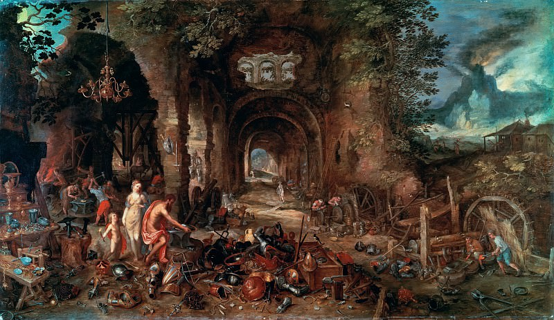 Venus in the Forge of Vulcan. Jan Brueghel The Elder