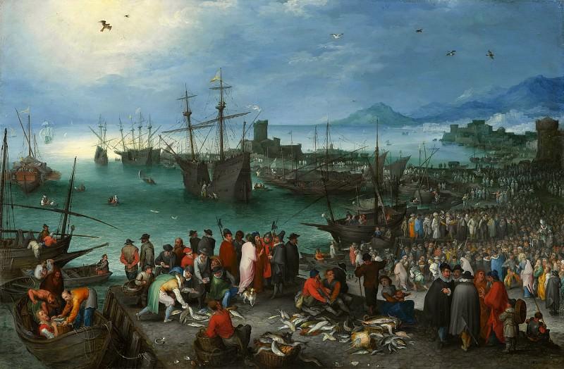 Harbor Scene with St. Paul. Jan Brueghel The Elder
