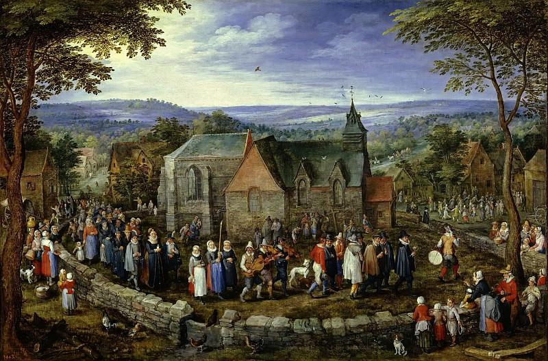 Деревенская свадьба. Ян Брейгель Старший