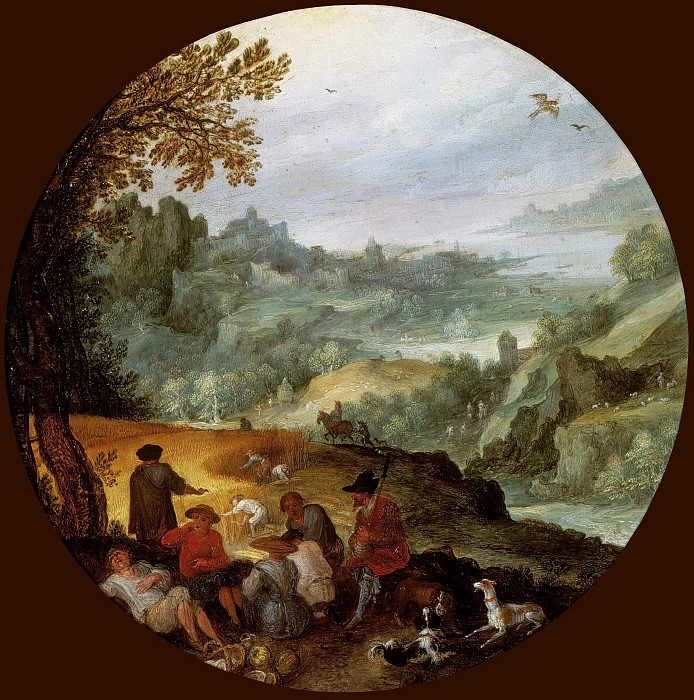 The Harvest. Jan Brueghel The Elder