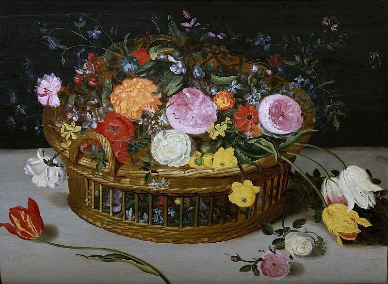 Basket with flowers. Jan Brueghel The Elder