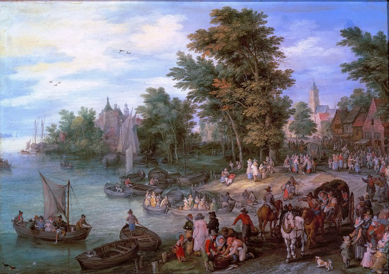 Boat Landing. Jan Brueghel The Elder