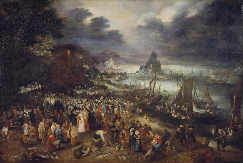 Christ Preaching from the Boat. Jan Brueghel The Elder