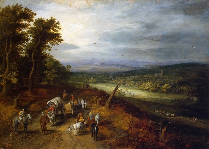 Country Road. Jan Brueghel The Elder