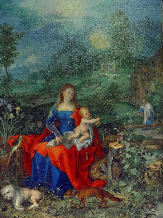 Madonna and Child among animals. Jan Brueghel The Elder