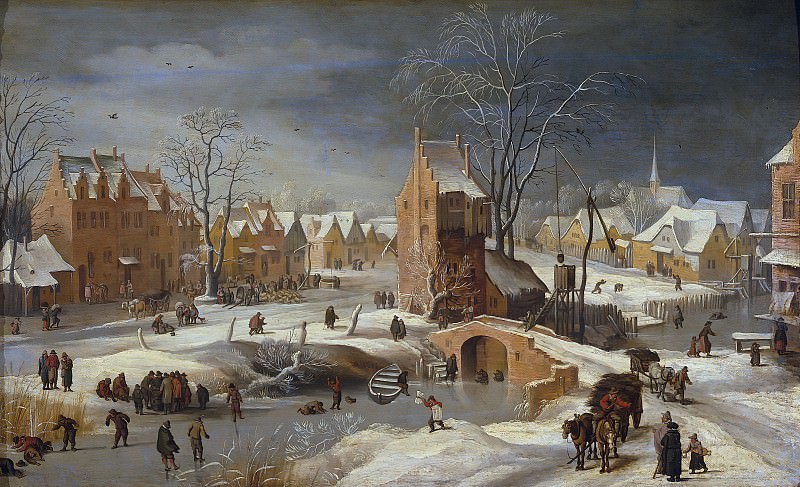 Paisaje nevado (Atribuido a). Jan Brueghel The Elder