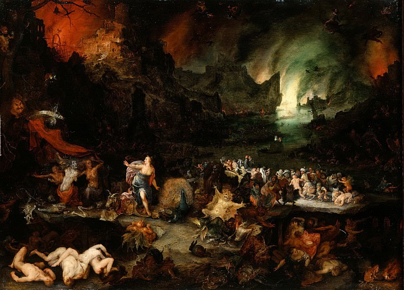 Juno in the Underworld. Jan Brueghel The Elder