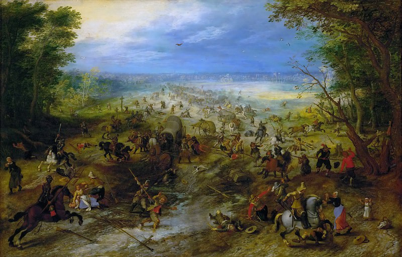 Brueghel, Jan The Elder (1568-1625) -- Засада. 1618-20. 55х83.. Kunsthistorisches Museum