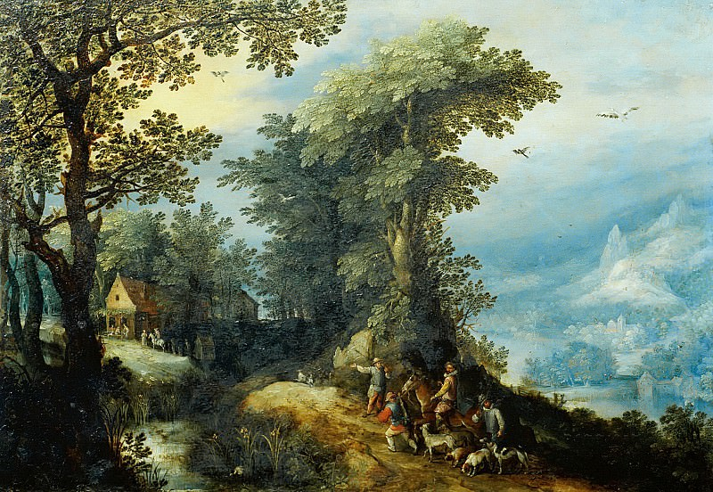 Return from the Hunt. Jan Brueghel The Elder