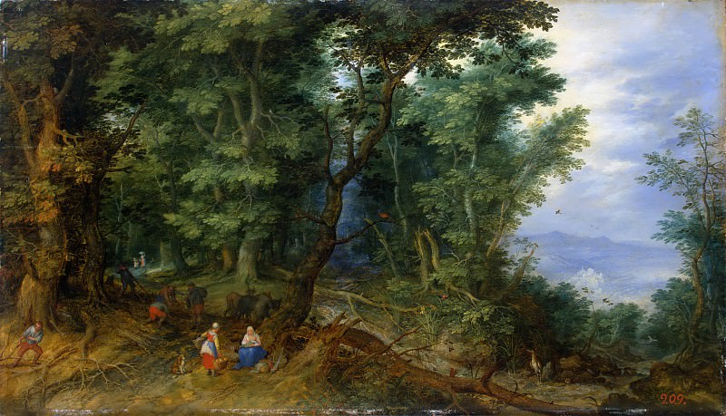 Rest on the Flight to Egypt. Jan Brueghel The Elder