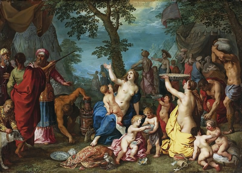 The Gathering of Manna. Jan Brueghel The Elder
