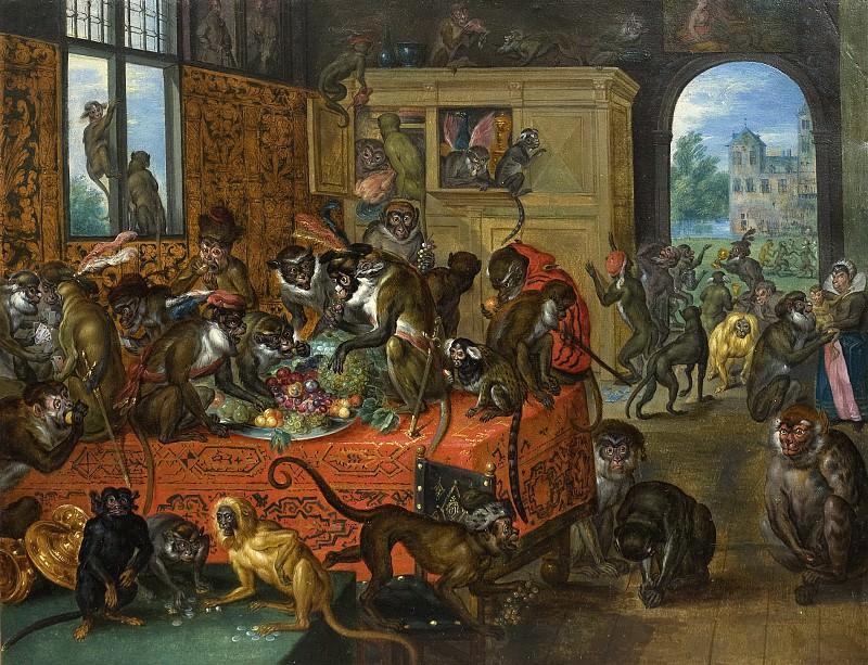 Vanity - The Feast of the Monkeys. Jan Brueghel The Elder