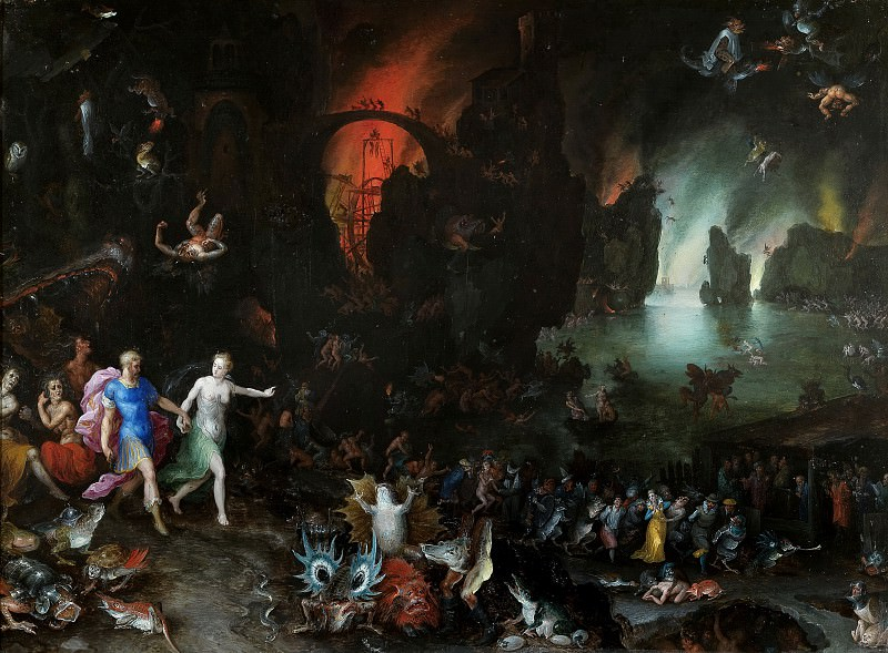 Aeneas and Sibyl in the Underworld. Jan Brueghel The Elder