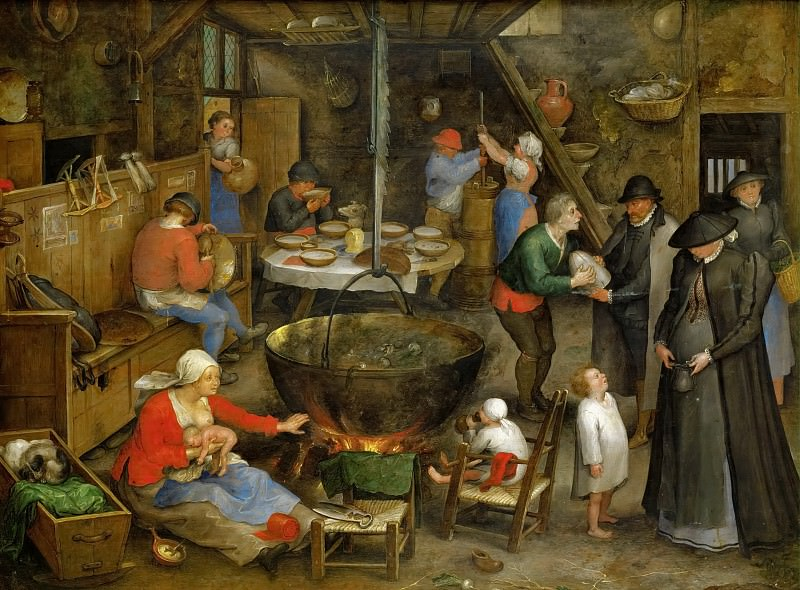 Visit at the Leasehold Farm. Jan Brueghel The Elder