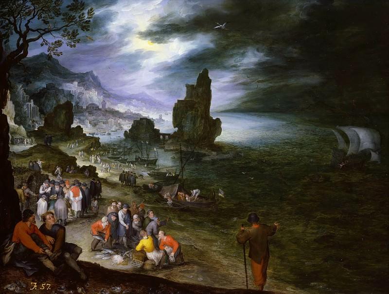 Прибрежный пейзаж с эпизодом из жизни пророка Ионы. Ян Брейгель Старший