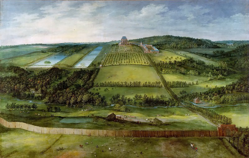 View of the Chateau de Mariemont. Jan Brueghel The Elder