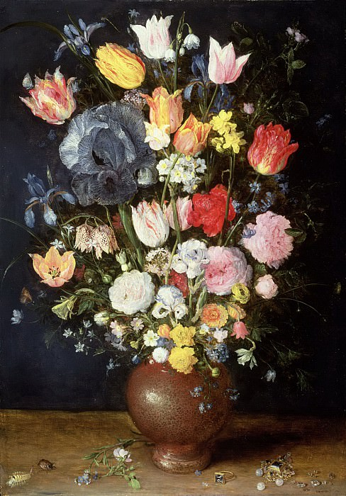 A Stoneware Vase of Flowers. Jan Brueghel The Elder