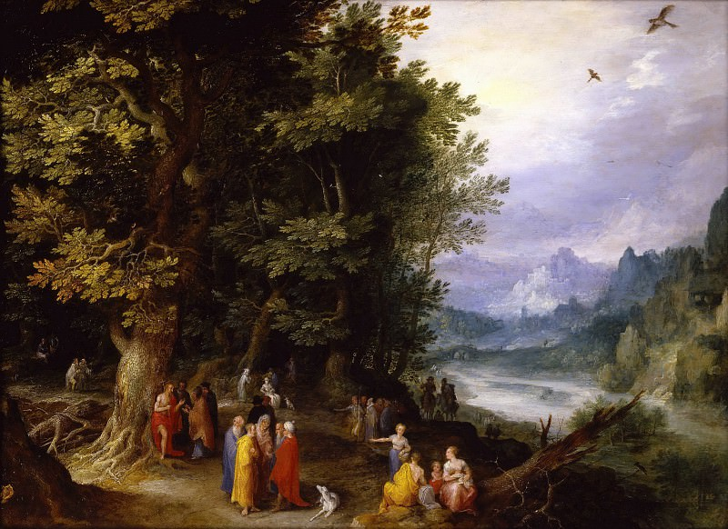 John the Baptist in the Wilderness. Jan Brueghel The Elder