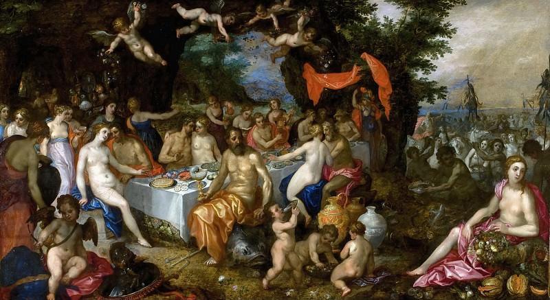 The Marriage of the Thetis and Peleus. Jan Brueghel The Elder