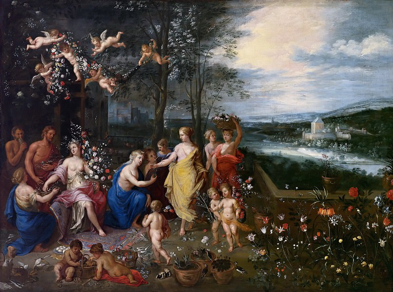 Allegory of Spring. Jan Brueghel The Elder