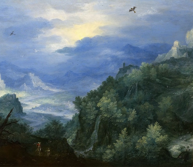 Mountainous Landscape with a River. Jan Brueghel The Elder