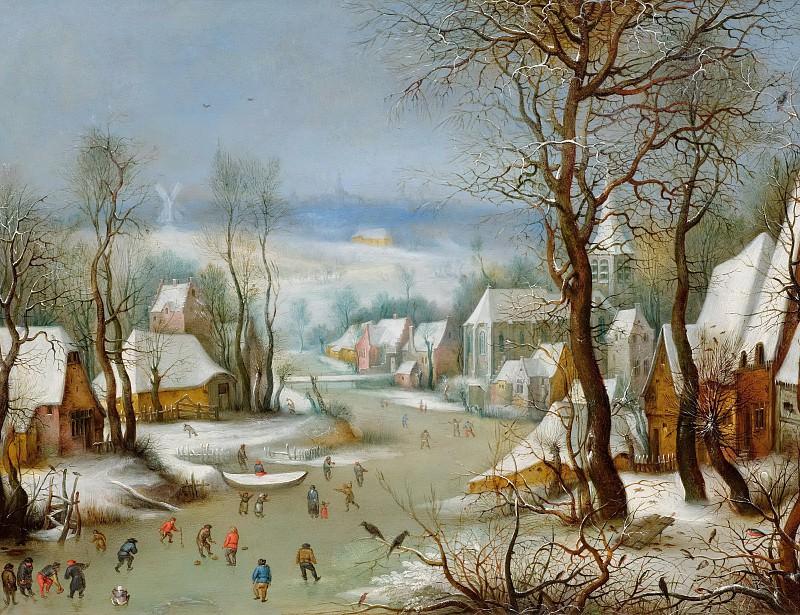 Зимний пейзаж с ловушкой для птиц. Ян Брейгель Старший