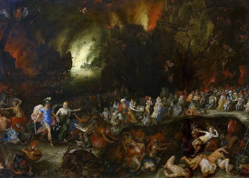 Aeneas and the Sibyl in the Underworld. Jan Brueghel The Elder