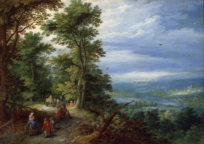 Edge of the Forest (The Flight into Egypt). Jan Brueghel The Elder