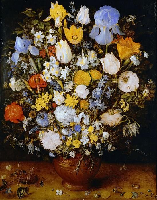Flowers in a vase. Jan Brueghel The Elder