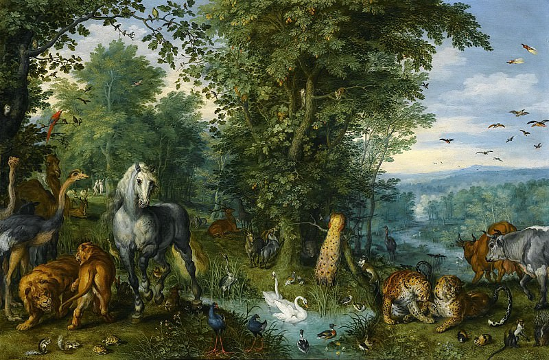 THE GARDEN OF EDEN WITH THE FALL OF MAN. Jan Brueghel The Elder